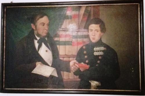 Ritratto di Lorenzo Festa Campanile con il figlio Nicola (1846)