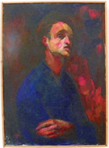 Autoritratto con camicia azzurra (1959)